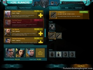 Shadowrun-Returns-Hire-Runners-screen-Android-iOS-gameplay-screenshot-by-PGR-2013